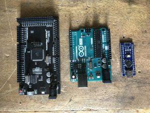 Carte Arduino Méga, Uno et Nano